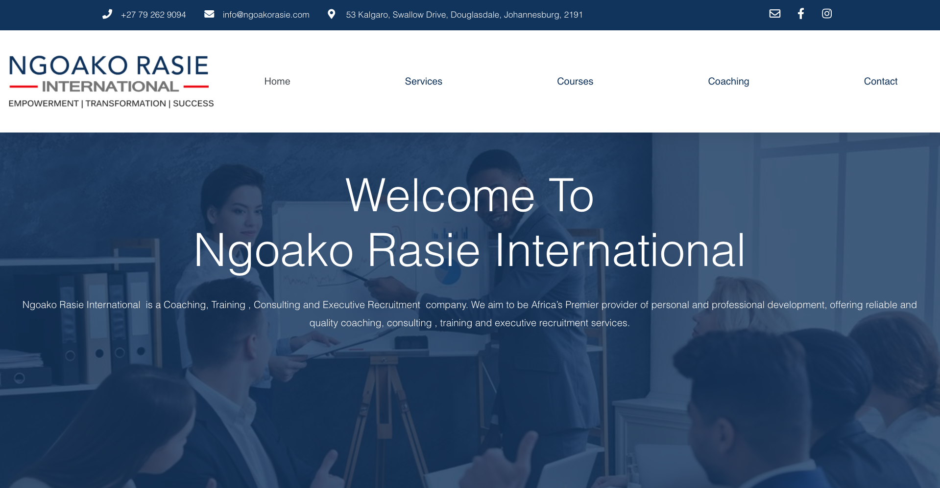 Ngoako Rasie Website